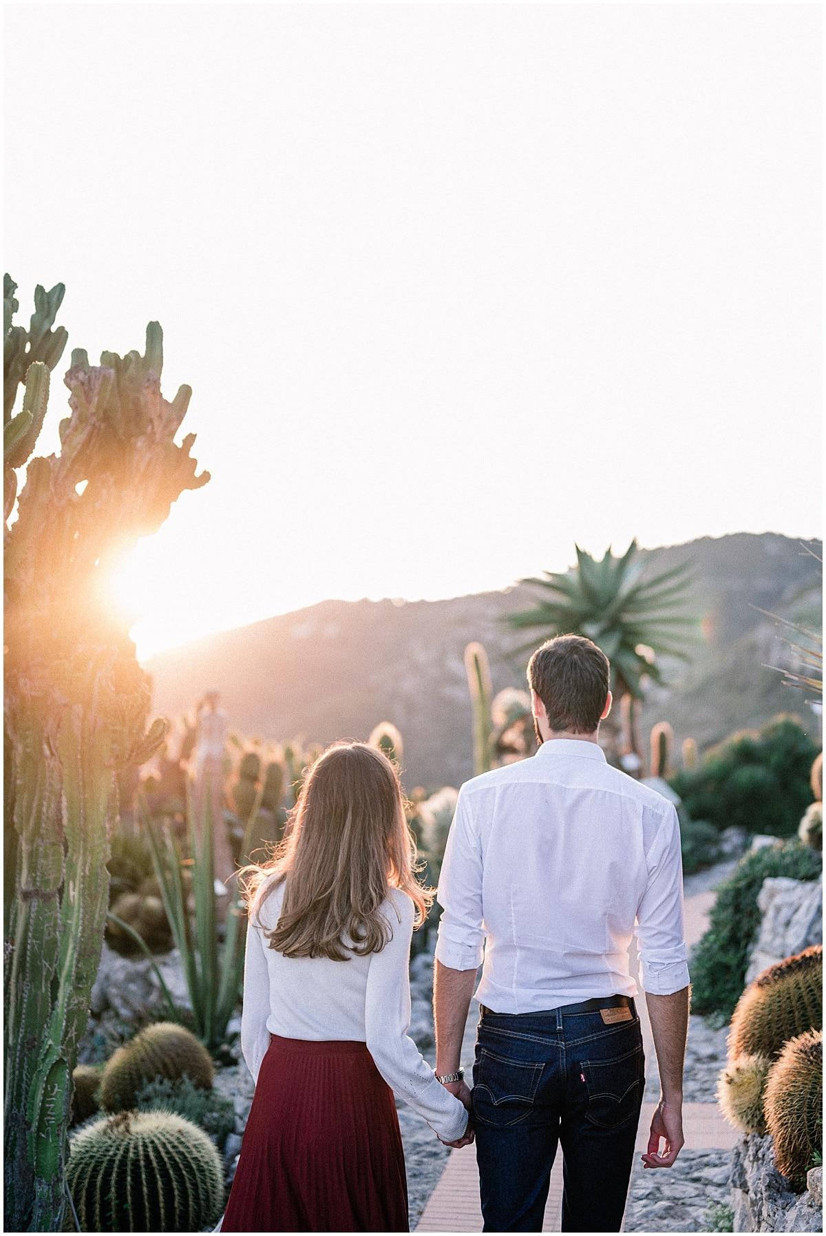 Engagement photo Eze village french Riviera Photography