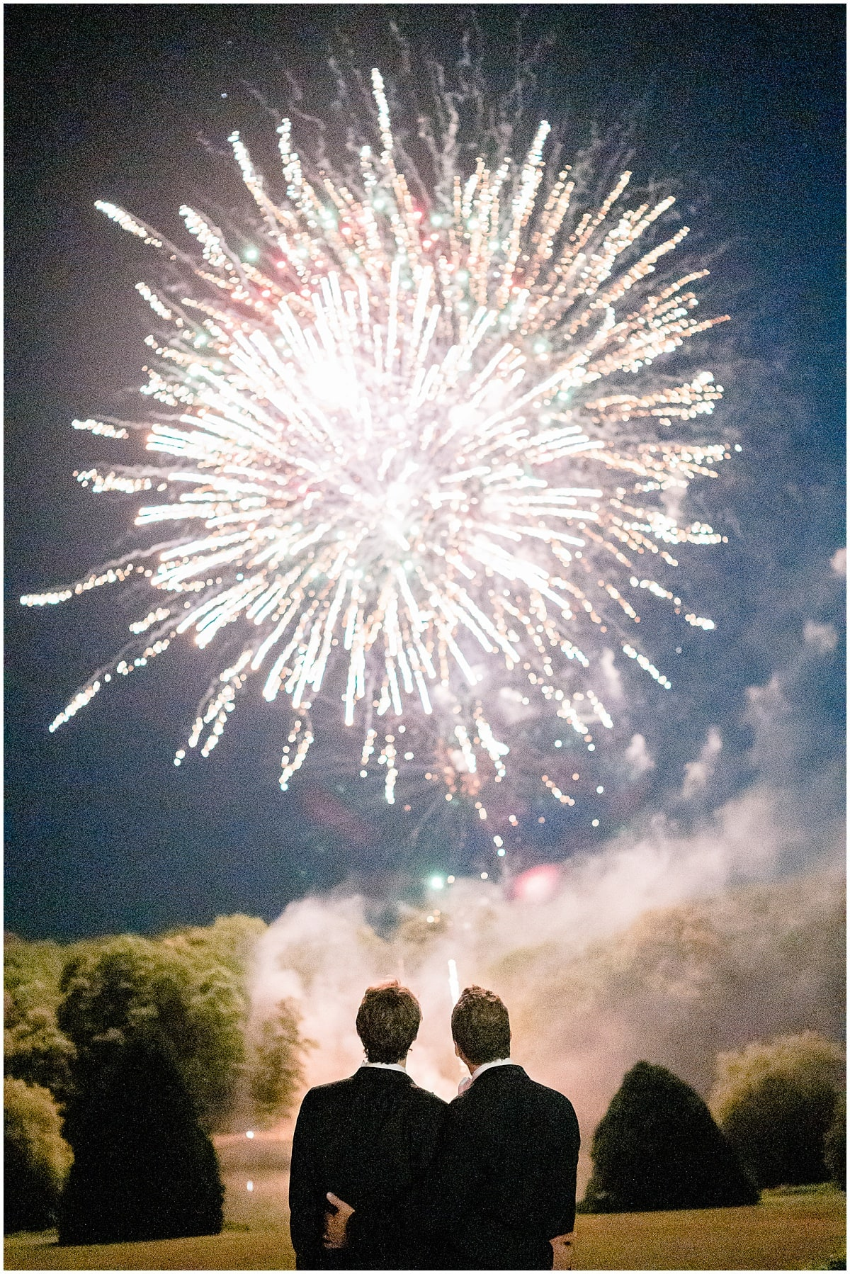 fireworks Chateau de Baronville American gay Wedding photographer