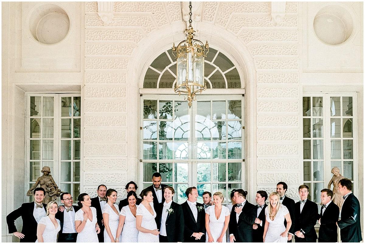 French american destination wedding chateau de baronville Paris