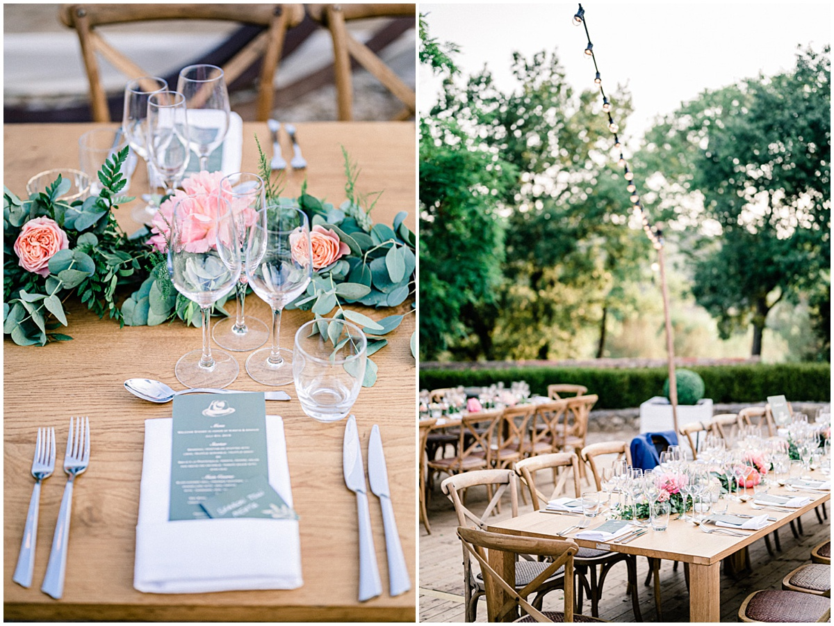 french american wedding heart provence fine art photographer table