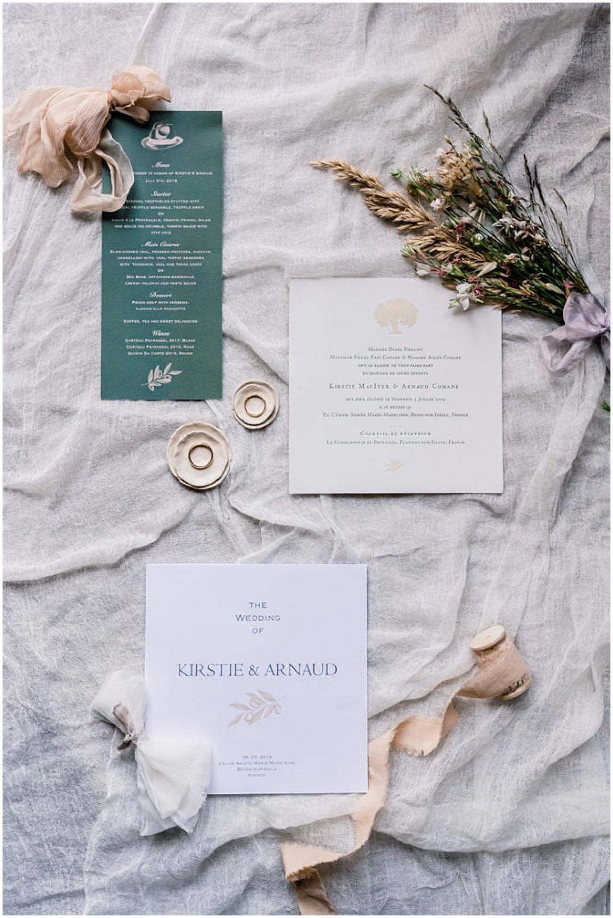 stationary wedding flatlay