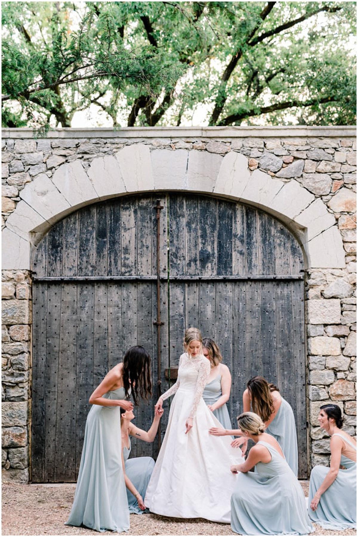fine art wedding bride and bridesmaids