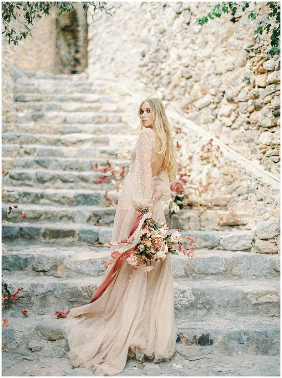 Bride Destination wedding photographer Monemvasia Greece