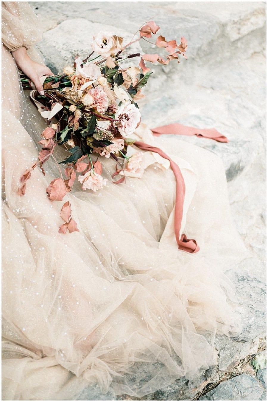 Details dress texture Destination wedding photographer Monemvasia Greece