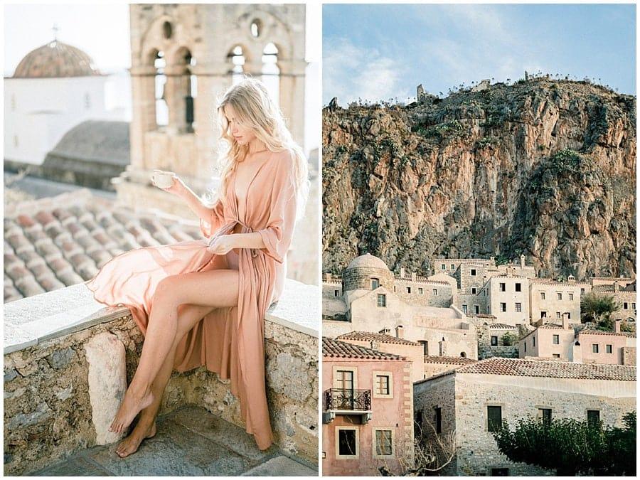 Destination wedding photographer Monemvasia Greece